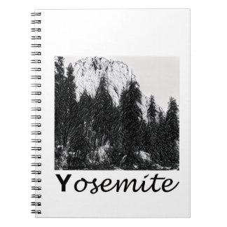 Yosemite No. 1 Black and White Spiral Note Book