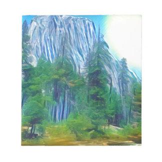 Yosemite No. 3 Mountain and Sun Notepads