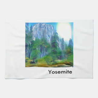Yosemite No. 3 Mountain and Sun Towels