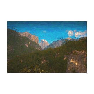 Yosemite Oil Painting Canvas Print