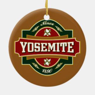 Yosemite Old Label Ceramic Ornament