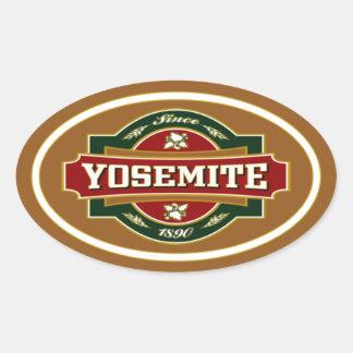 Yosemite Old Label Oval Sticker