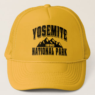 Yosemite Old Style Black Trucker Hat