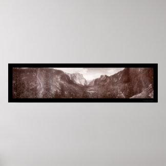 Yosemite Panorama Photo 1899 Poster