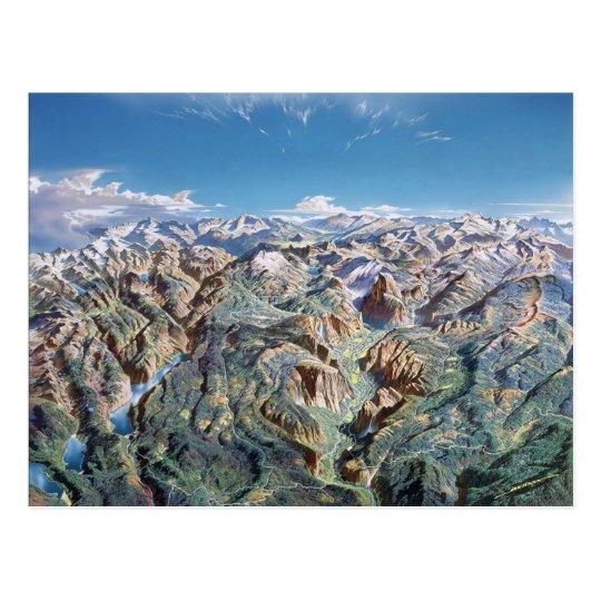 Yosemite Panorama Postcard
