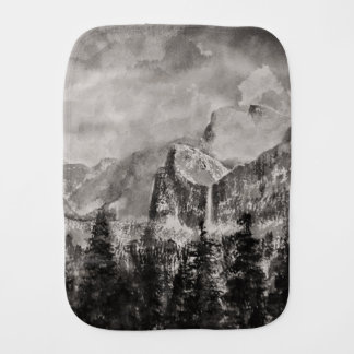 Yosemite Park in Winter Burp Cloth