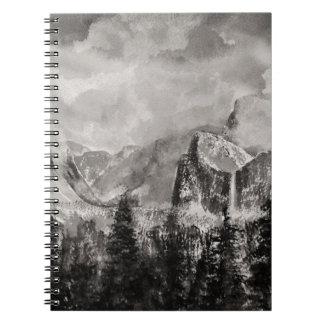 Yosemite Park in Winter Note Books