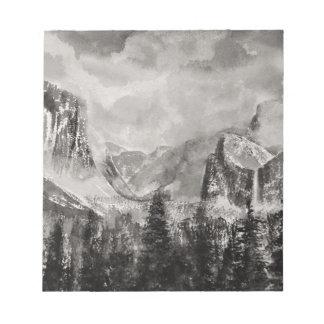 Yosemite Park in Winter Notepad