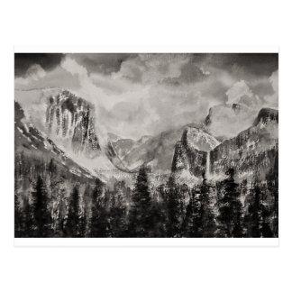 Yosemite Park in Winter Postcard