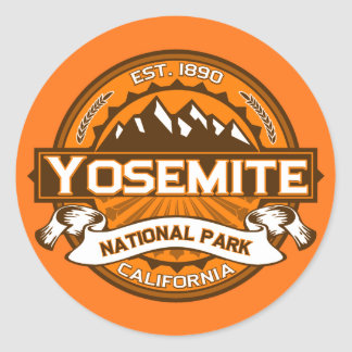 Yosemite Pumpkin Classic Round Sticker