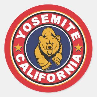 Yosemite Red Circle Classic Round Sticker