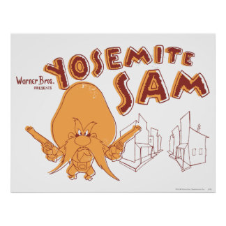 Yosemite Sam Warner Bros. Presents Poster
