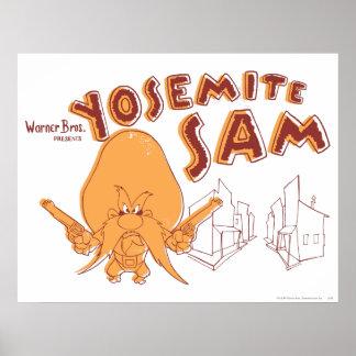 Yosemite Sam Warner Bros. Presents Poster