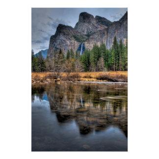 Yosemite Scenic Falls Perfect Poster