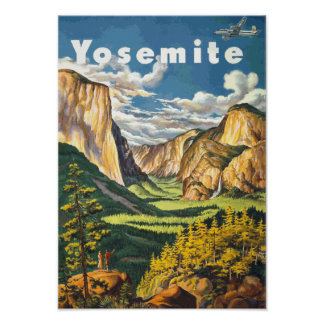 Yosemite Travel Art (Vector) Poster