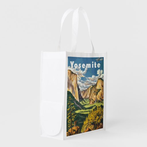 Yosemite Travel Art Reusable Grocery Bag