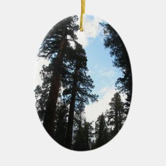 Yosemite Trees Ceramic Ornament