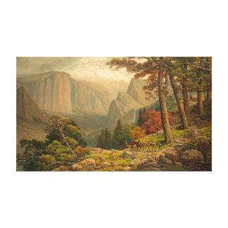 Yosemite Valley California 1887 Canvas Print