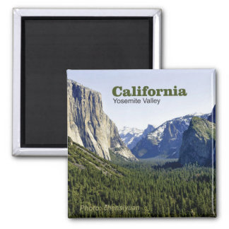 Yosemite Valley California Travel Photo Magnets