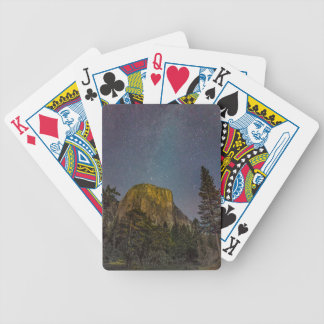 Yosemite Valley El Capitan night sky Bicycle Playing Cards