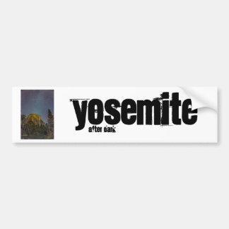 Yosemite Valley El Capitan night sky Bumper Sticker