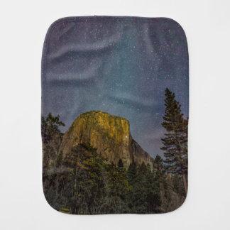 Yosemite Valley El Capitan night sky Burp Cloth