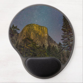 Yosemite Valley El Capitan night sky Gel Mouse Pad