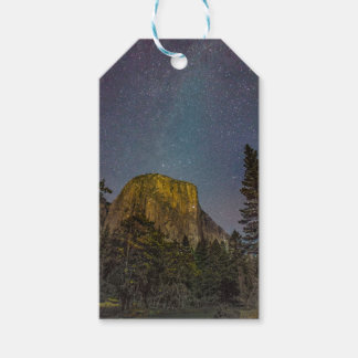 Yosemite Valley El Capitan night sky Gift Tags