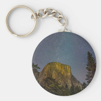 Yosemite Valley El Capitan night sky Keychain