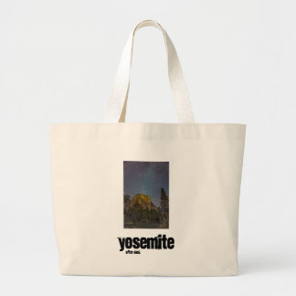 Yosemite Valley El Capitan night sky Large Tote Bag