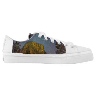 Yosemite Valley El Capitan night sky Low-Top Sneakers