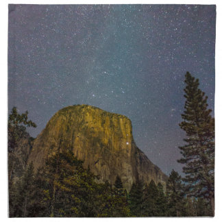 Yosemite Valley El Capitan night sky Napkin