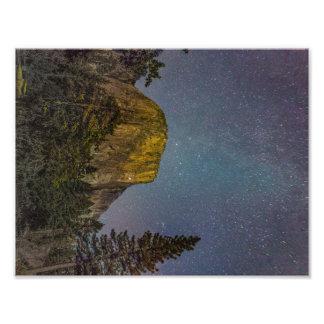 Yosemite Valley El Capitan night sky Photo Print