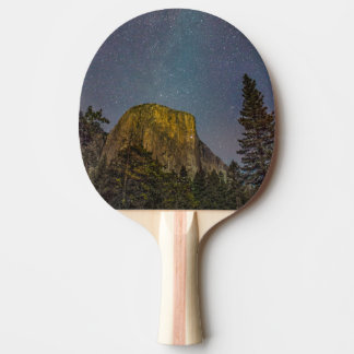 Yosemite Valley El Capitan night sky Ping Pong Paddle