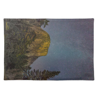 Yosemite Valley El Capitan night sky Placemat