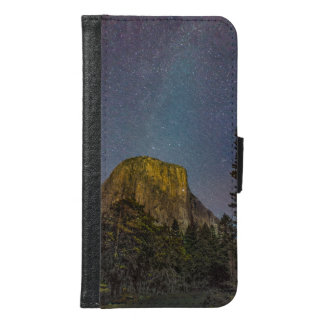Yosemite Valley El Capitan night sky Samsung Galaxy S6 Wallet Case