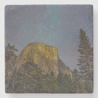Yosemite Valley El Capitan night sky Stone Coaster