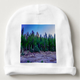 Yosemite Valley Forest & Sky Baby Beanie