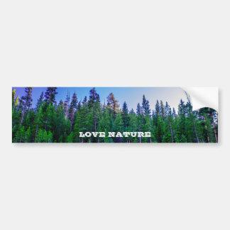 Yosemite Valley Forest & Sky Bumper Sticker
