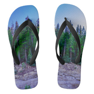 Yosemite Valley Forest & Sky Flip Flops