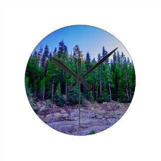 Yosemite Valley Forest & Sky Round Clock