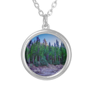 Yosemite Valley Forest & Sky Silver Plated Necklace