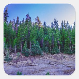 Yosemite Valley Forest & Sky Square Sticker