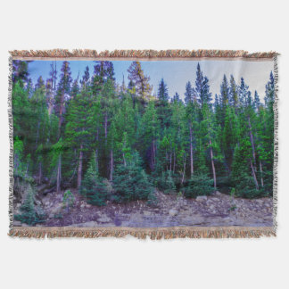 Yosemite Valley Forest & Sky Throw Blanket