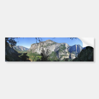Yosemite Valley from Four Mile Trail - Yosemite Bumper Sticker