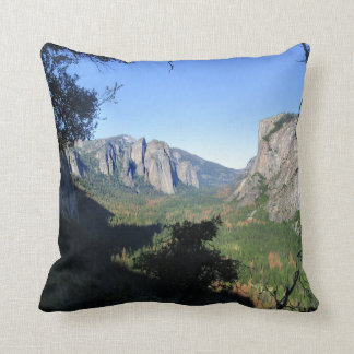 Yosemite Valley from Four Mile Trail - Yosemite Throw Pillow