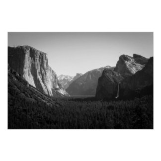 Yosemite Valley from Tunnel View Poster
