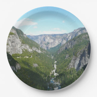 Yosemite Valley in Yosemite National Park 9 Inch Paper Plate