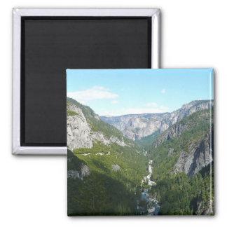 Yosemite Valley in Yosemite National Park Square Magnet