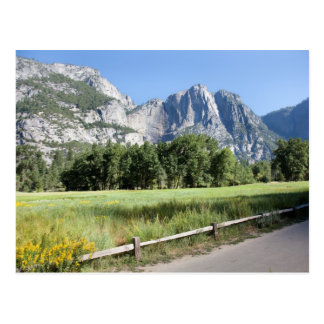 Yosemite Valley Meadow, El Capitan, Staycation Postcard